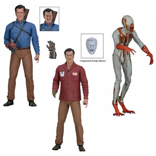 NECA Shipping This Week: Ash Vs Evil Dead Series 1, Clothed Bill & Ted 2-Pack, Clothed Surgeon Freddy Krueger, 1/4″ Scale Concept Alien