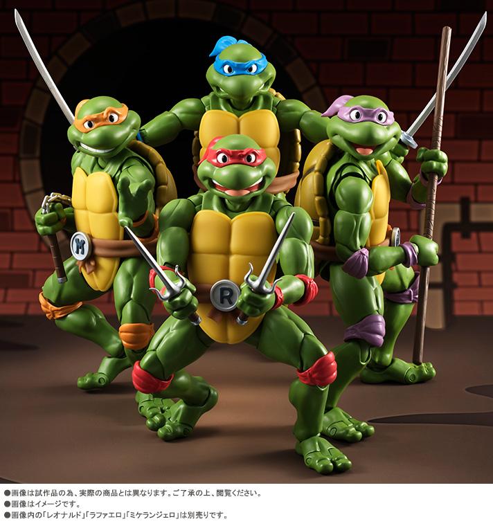S.H. Figuarts Teenage Mutant Ninja Turtles Raphael & Michelangelo Details