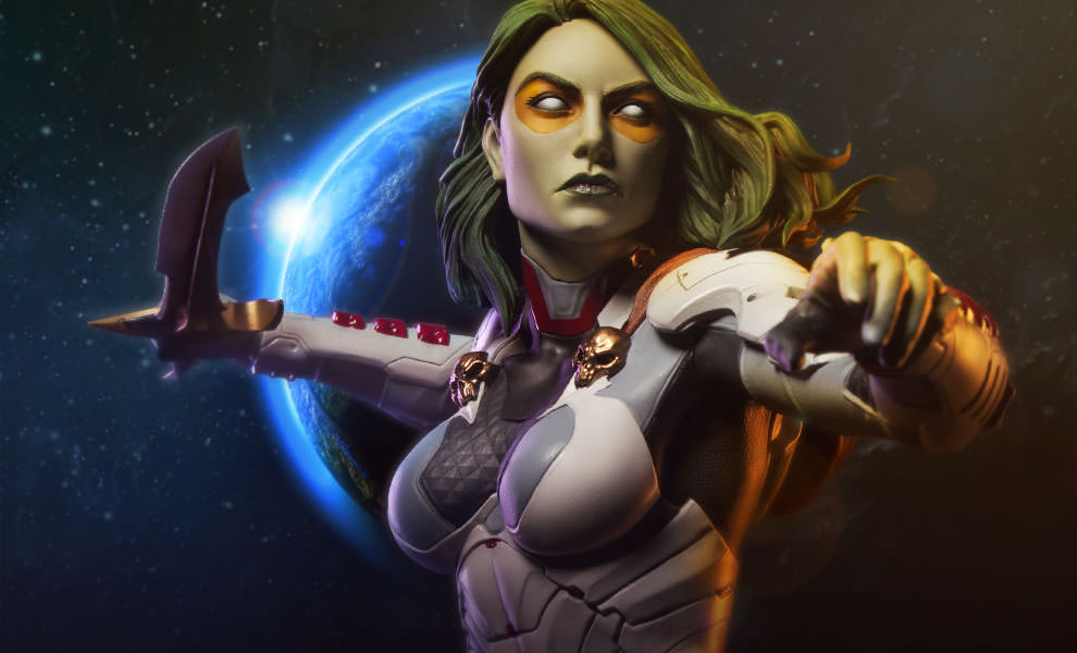 Sideshow Guardians Of The Galaxy Gamora Statue Details