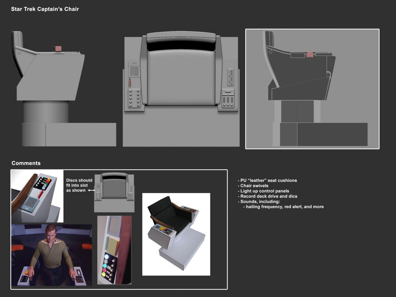 Mezco Reveals Their One:12 Collective Star Trek Captain Kirk Captain's Chair Accessory