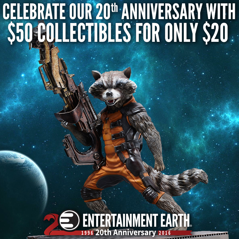 Entertainment Earth 20th Anniversary Sale – $50 Items For Only $20