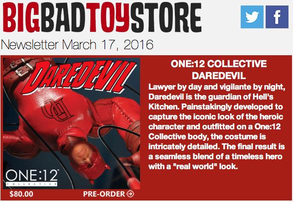 BBTS News: Daredevil, CA: Civil War, Gentle Giant, Star Wars, Transformers, LotR, Godzilla & More