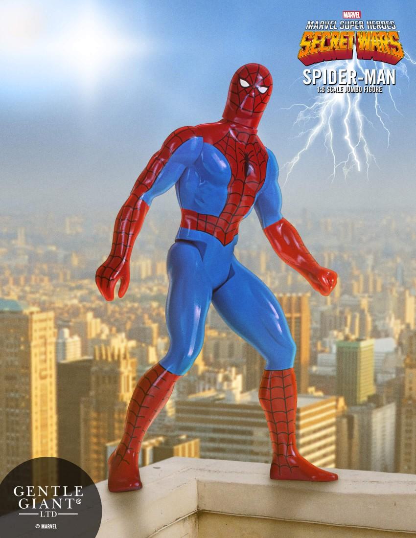 Gentle Giant – Secret Wars Spider-Man Jumbo Figure & Animated Spider-Gwen Statue
