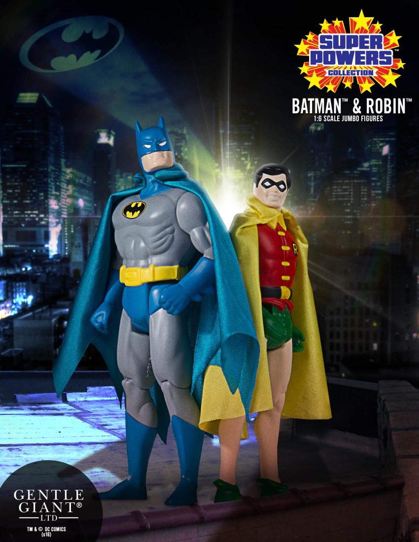 Gentle Giant – DC Super Powers Batman & Robin Jumbo Figures
