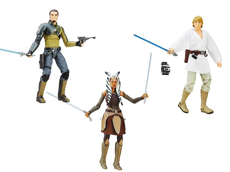 Hasbro Star Wars TBS 6″ Ahsoka, Kanan & Luke $21.99 On Amazon