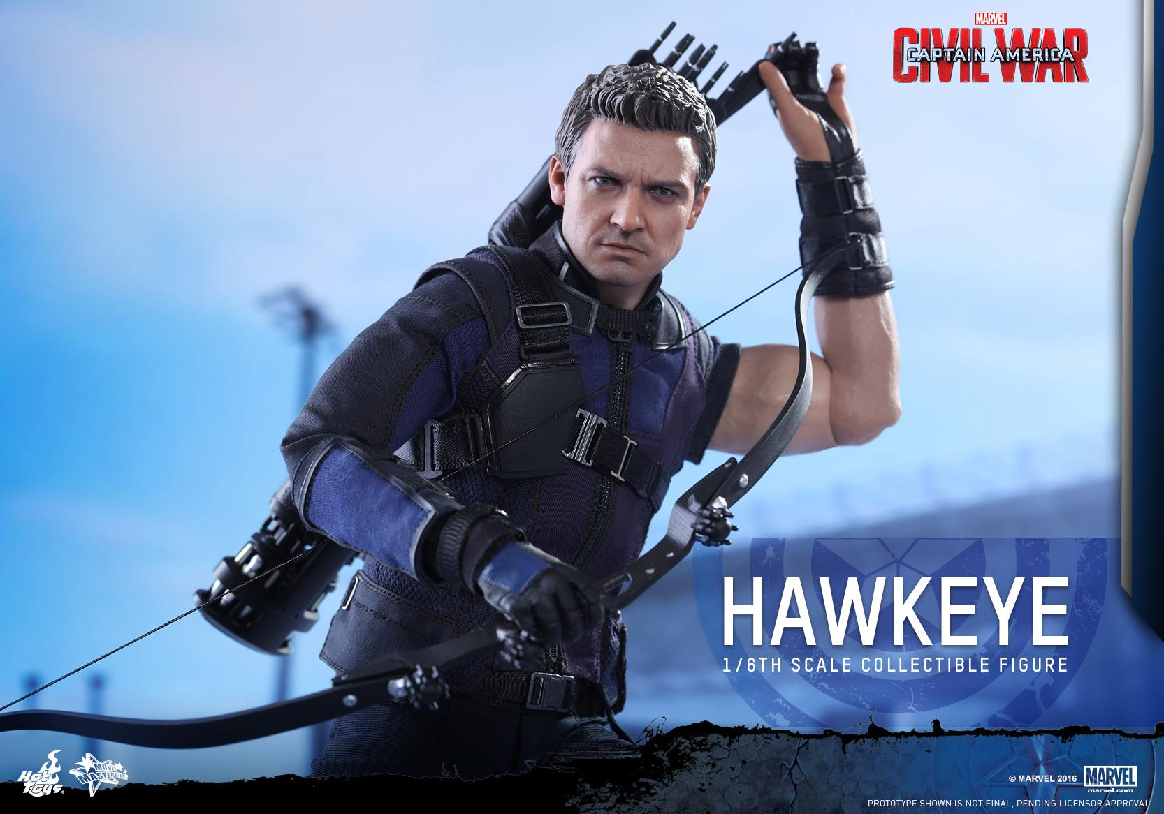 Hot Toys Captain America: Civil War Hawkeye Sixth Scale Figure