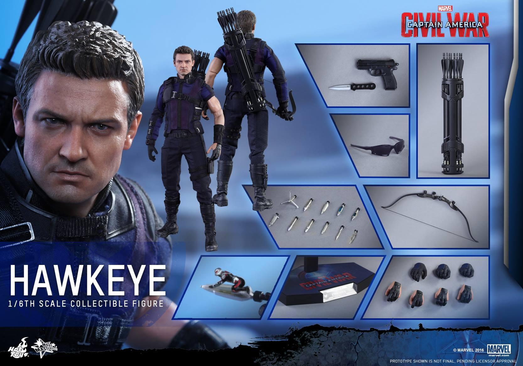 Hot Toys Captain America: Civil War Hawkeye Sixth Scale Figure Pre-Orders
