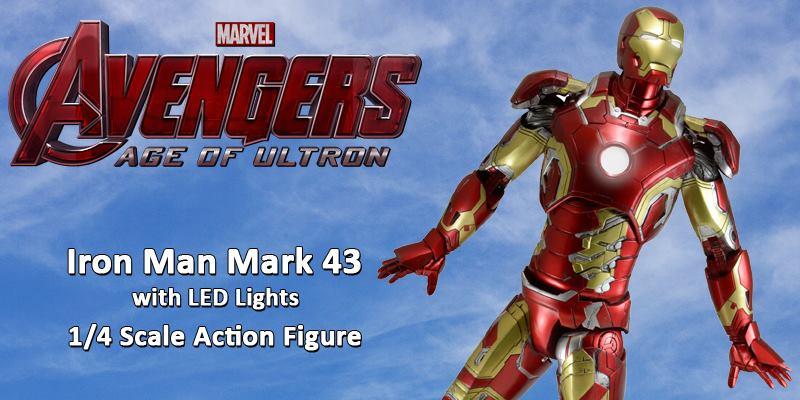 NECA Toys Avengers: Age Of Ultron – Iron Man Mark 43 1/4″ Scale Figure On Amazon & eBay