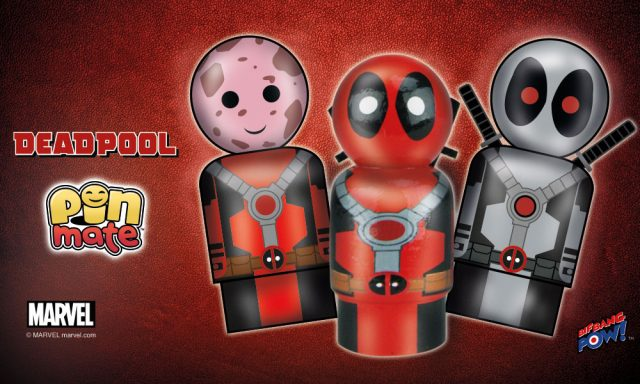 Bif Bang Pow! Miniature Pin Mate Wooden Deadpool Figures Available Now