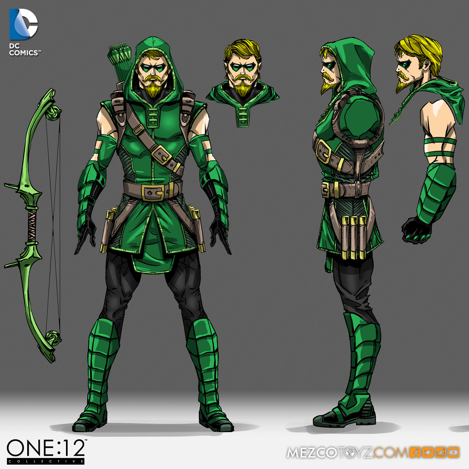 Mezco Toyz Behind The Scenes Look At One:12 Collective Green Arrow Figure