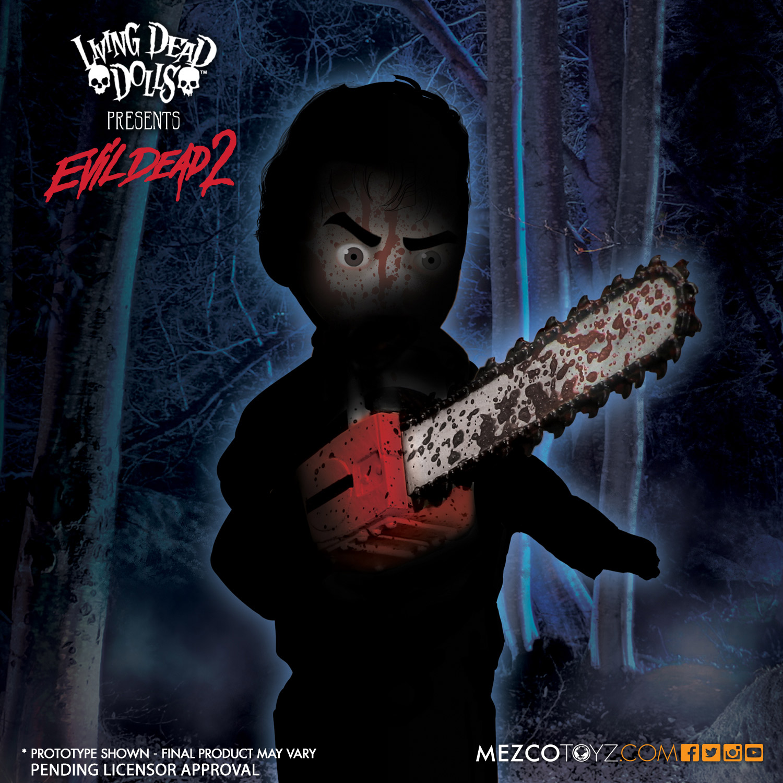 Mezco Toyz Living Dead Dolls Evil Dead 2: Ash Sneak Peek