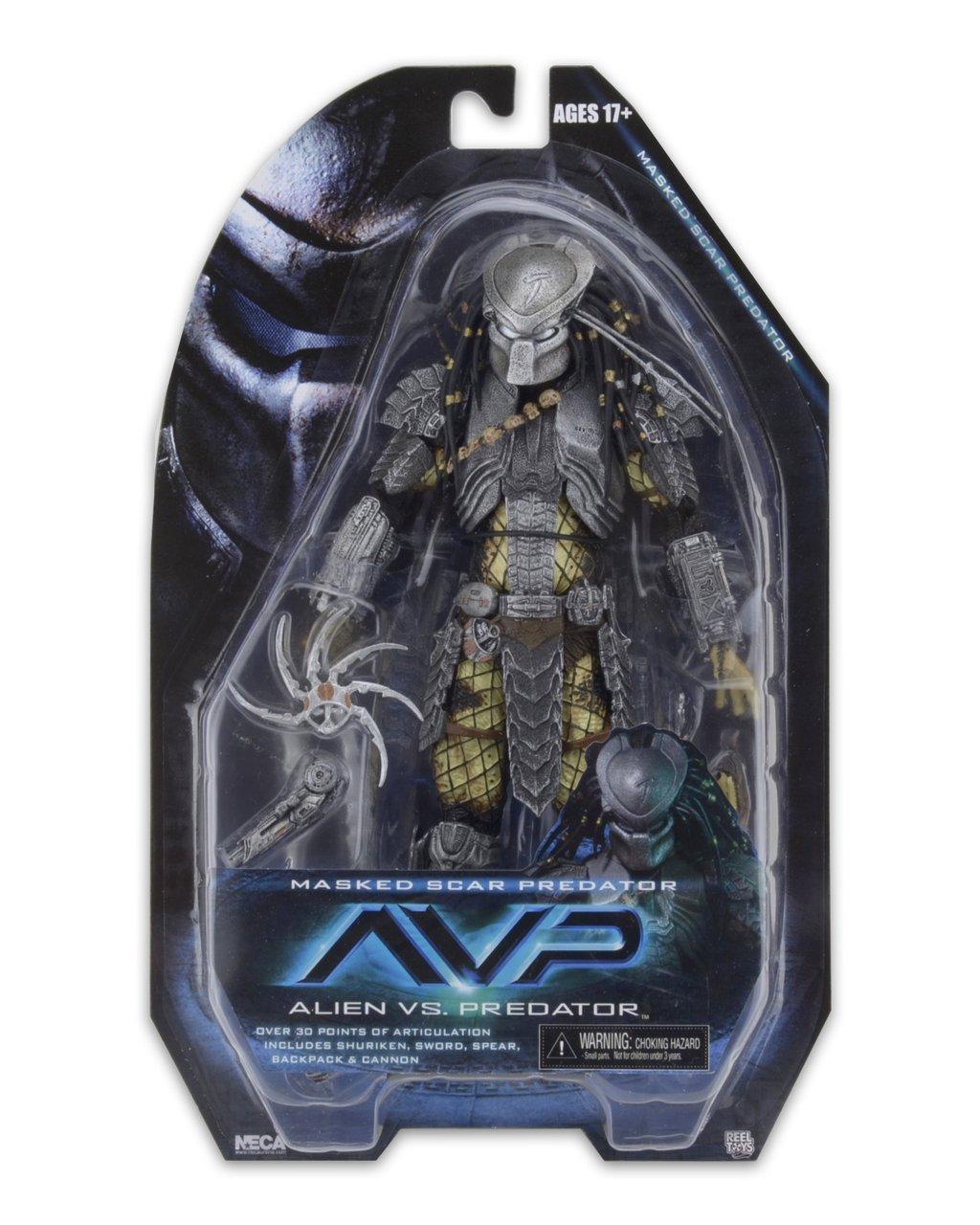 NECA Toys Predator Series 15 Masked Scar Predator & Warrior Predator In Package Images