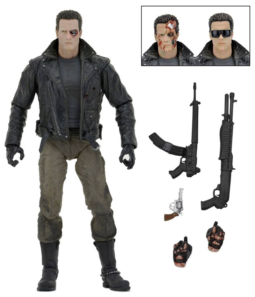 NECA Toys Shipping This Week: Terminator Police Station Assault T-800 7″ Figure