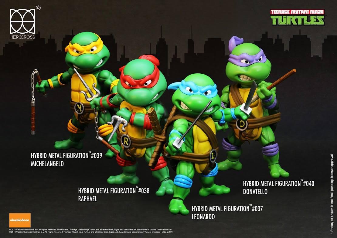 Herocross Teenage Mutant Ninja Turtles Hybrid Metal Figuartion Figure Pre-Orders