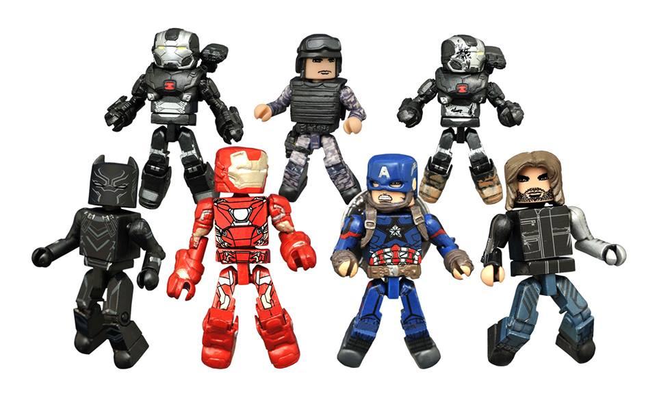 Marvel Civil War Minimates & Batmobile Bottle Opener In Stores Now