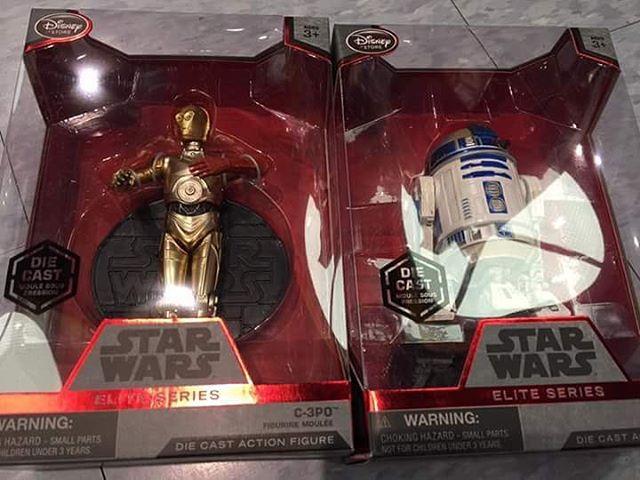 Disney Store Exclusive Elite Series C-3PO & R2-D2 Diecast Figures