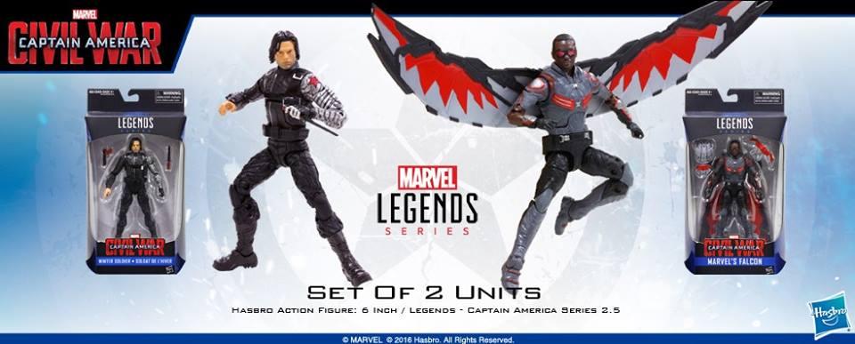 Wal-Mart Exclusive Hasbro Marvel Legends 6″ Falcon & Winter Solder In Stock Online