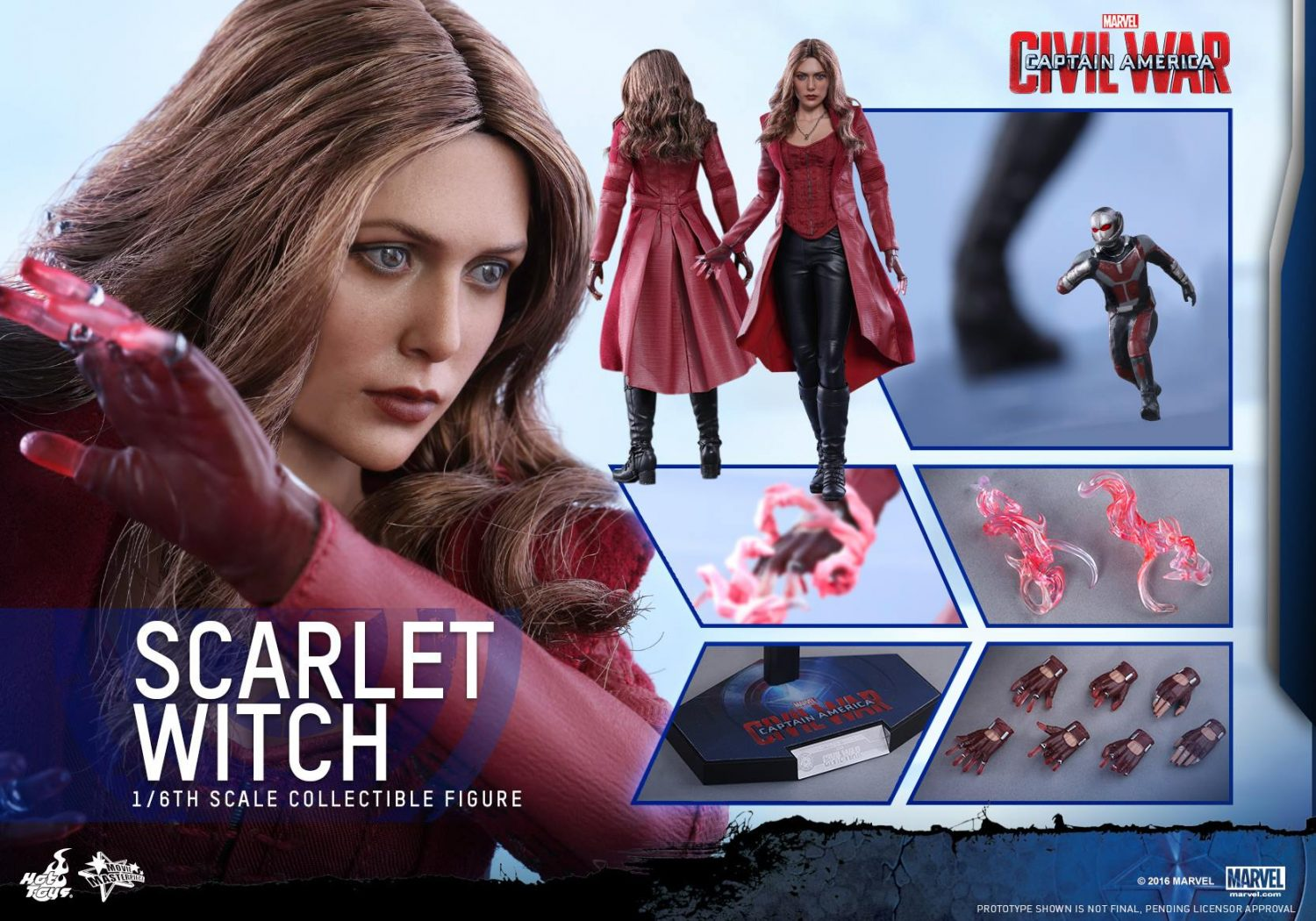 Hot Toys Captain America: Civil War Scarlet Witch Sixth Scale Figure Pre-Orders Are Live