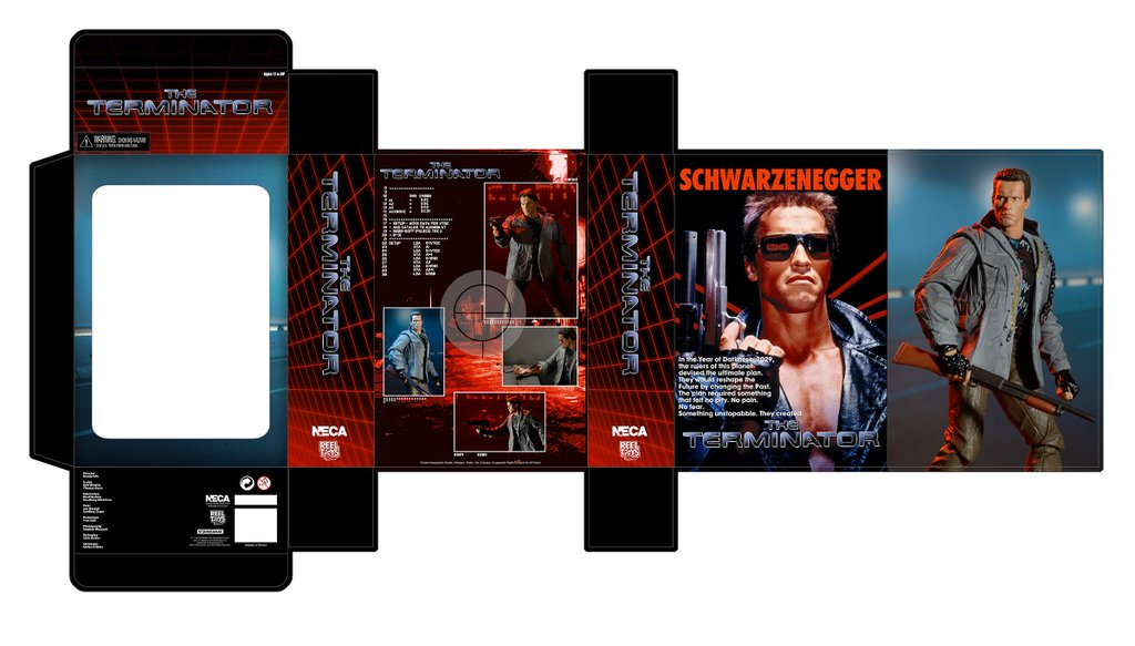 NECA Toys Ultimate Terminator Tech Noir T-800 Figure Packaging Preview