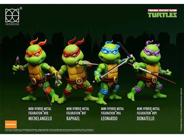 Teenage Mutant Ninja Turtles Hybrid Metal Figuration 3″ Mini-Figures