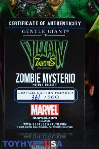Gentle Giant Villain Zombies - Zombie Mysterio Mini Bust 07