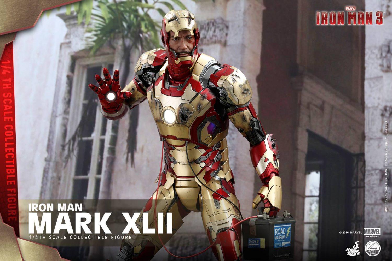 Hot Toys Iron Man Mark XLII Armor 1/4″ Scale Figure Pre-Order
