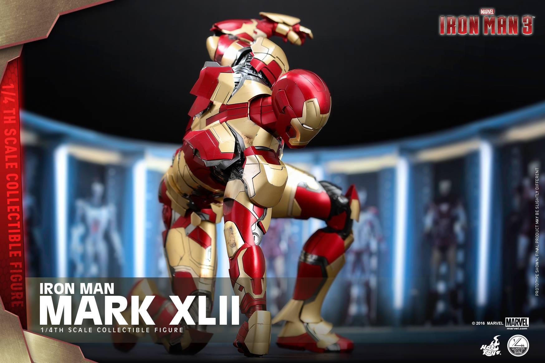 Hot Toys Iron Man Mark XLII Armor 1/4″ Scale Figure