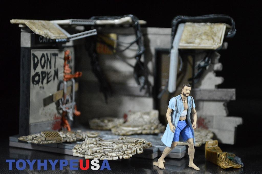 McFarlane Toys The Walking Dead Hospital Doors Construction Set Review