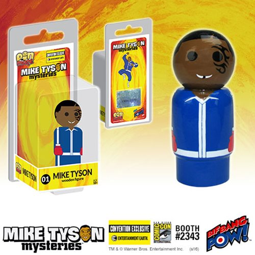 Entertainment Earth SDCC 2016 Mike Tyson Mysteries Mike Tyson Pin Mate Wooden Figure