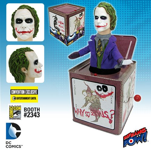 SDCC 2016 Exclusive Bif Bang Pow! The Dark Knight Joker Jack In The Box