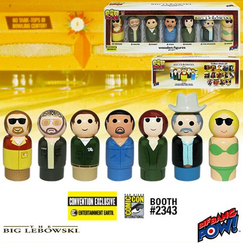 SDCC 2016 Exclusive The Big Lebowski Pin Mate Wooden Figures Set