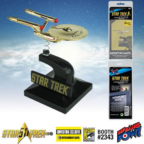 SDCC 2016 Exclusive Star Trek: The Original Series 24K Gold Plated Enterprise Monitor Mate