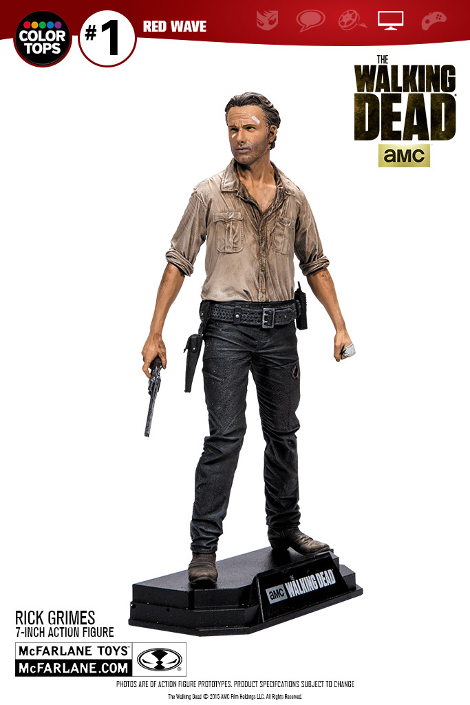 McFarlane Toys The Walking Dead TV Series 7″ Rick Grimes Figure Update