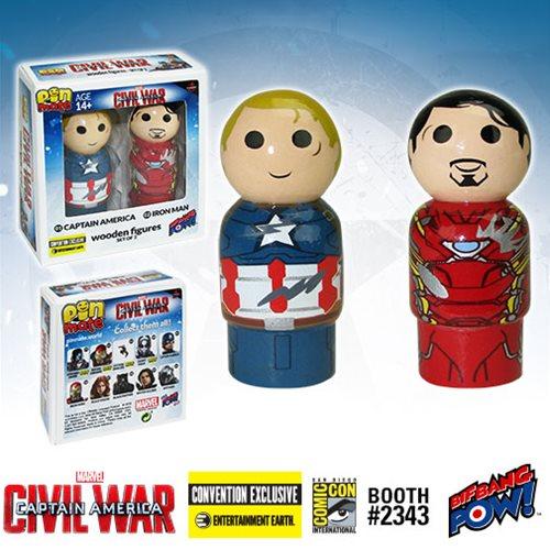 Bif Bang Pow! SDCC 2016 Exclusive Captain America: Civil War Pin Mate Wooden Figure 2 Pack