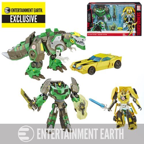 Entertainment Earth Daily Deal – Hasbro Transformers Platinum RID Grimlock & Bumblebee 2 Pack Now $22.99