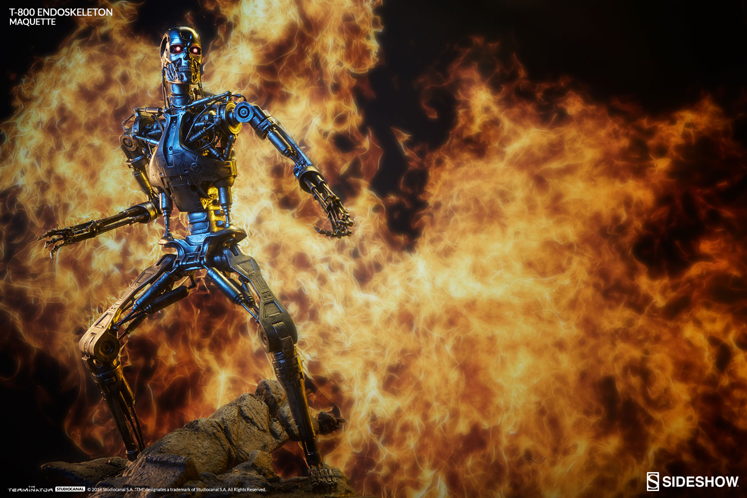 Sideshow The Terminator T-800 Endoskeleton Maquette Pre-Orders