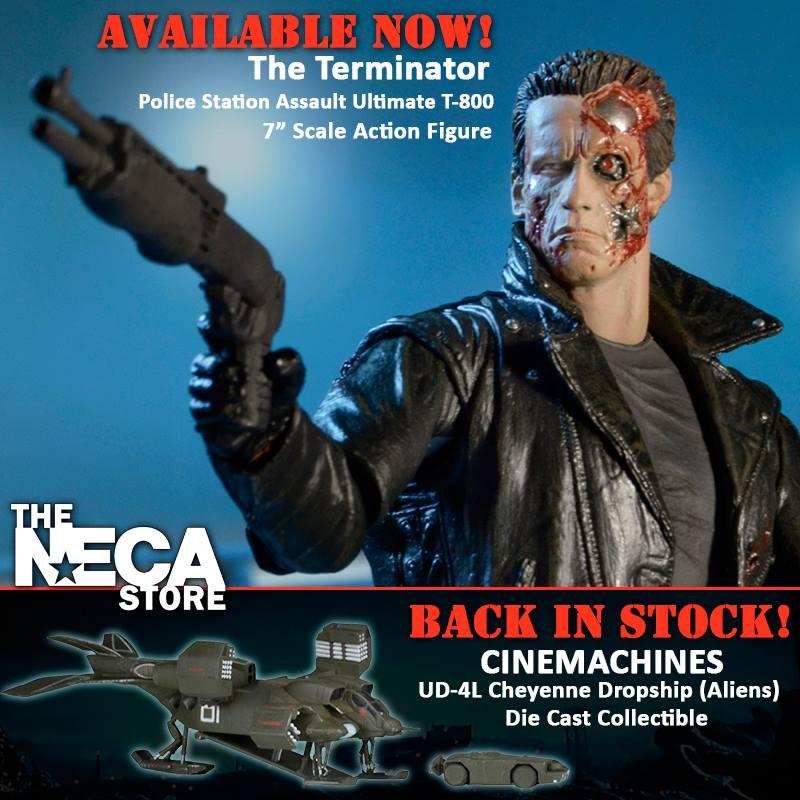 NECA Toys Terminator Ultimate Police Station Assault T-800 & Cinemachines On Amazon & eBay Storefronts