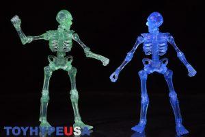 October Toys Skeleton Warriors Slime Green Translucent Skeleton Figure 08