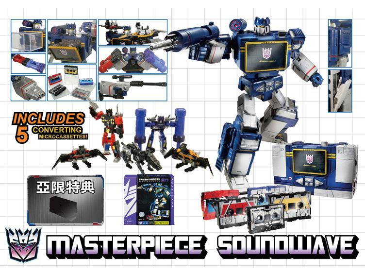Takara Transformers Masterpiece Soundwave Reissue With 5 Cassettes