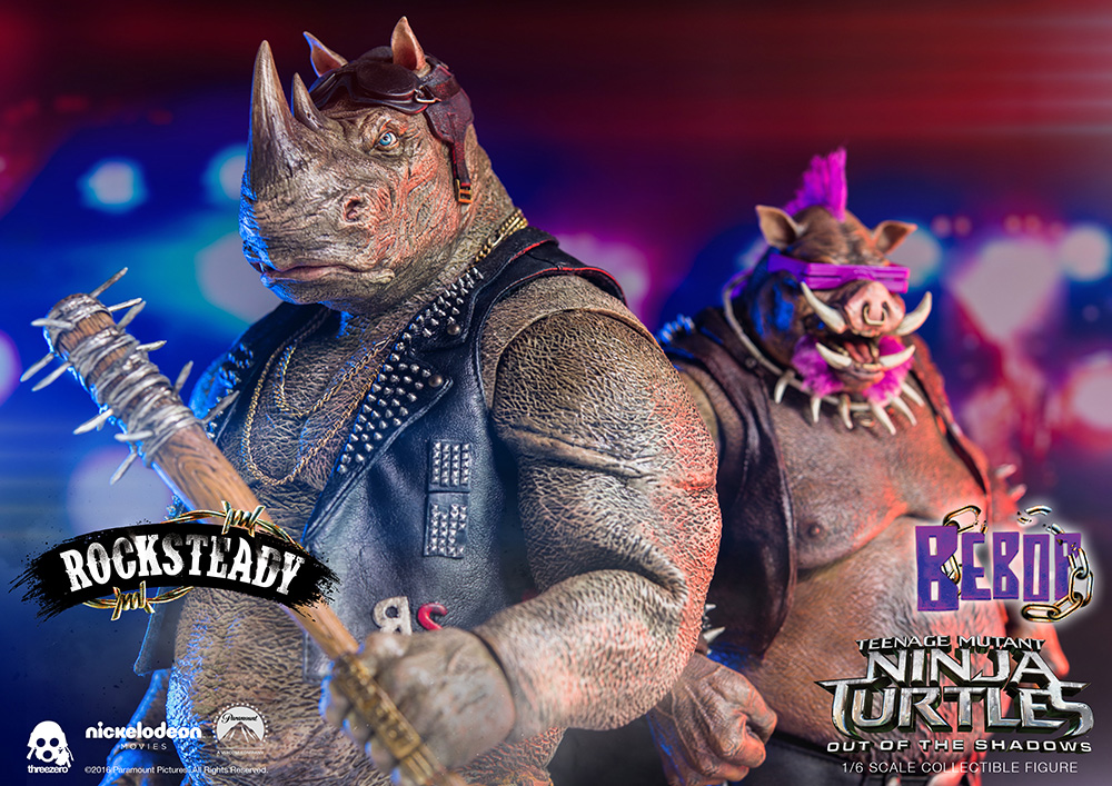 ThreeZero TMNT: Out Of The Shadows – Bebop & Rocksteady Sixth Scale Figures Update