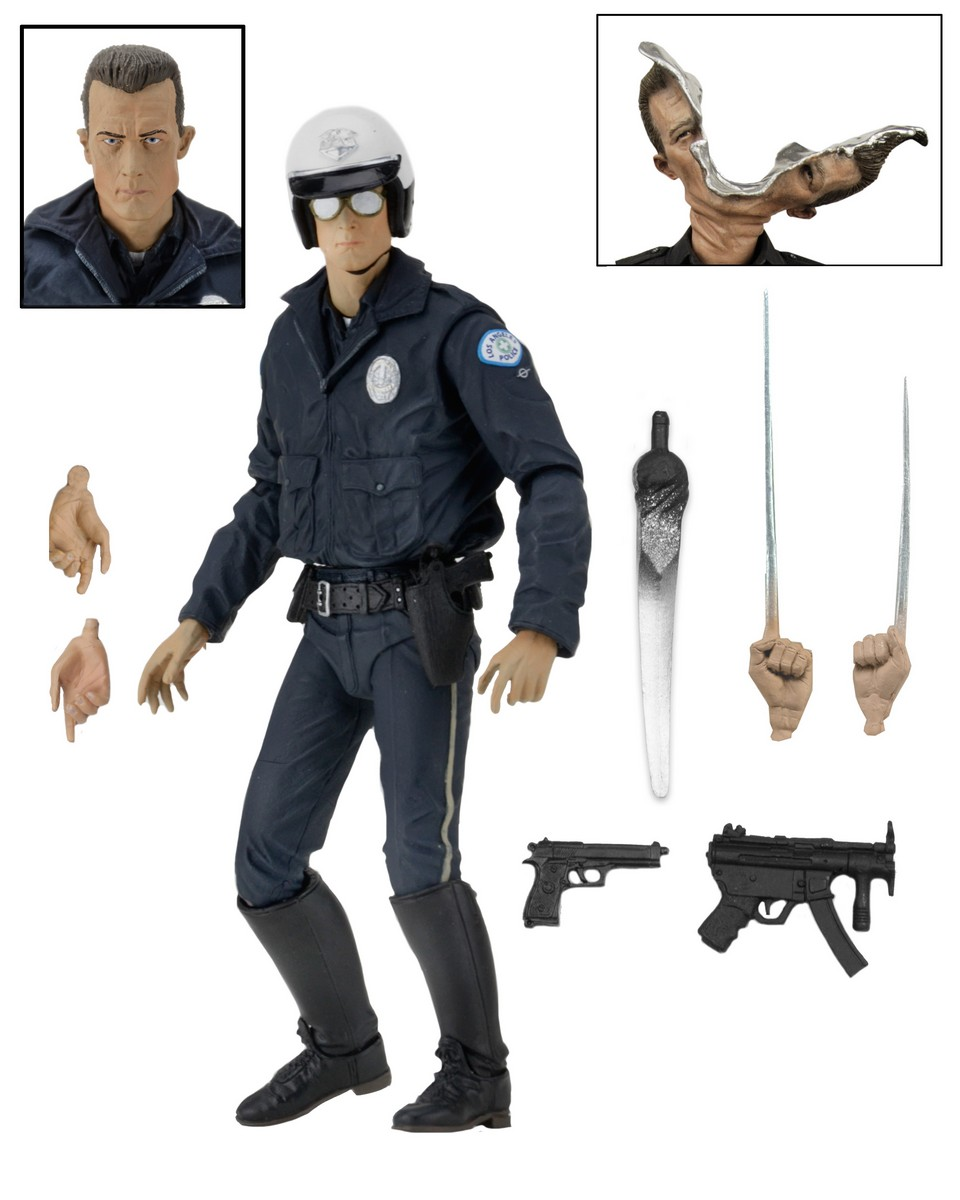 NECA Toys Terminator 2: Ultimate 7″ T-1000 Motorcycle Cop Figure