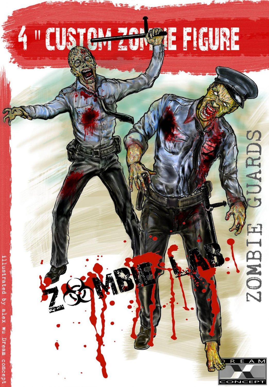 Dream Concept Collectibles Zombie Lab Zombie Guards Character Design Revealed