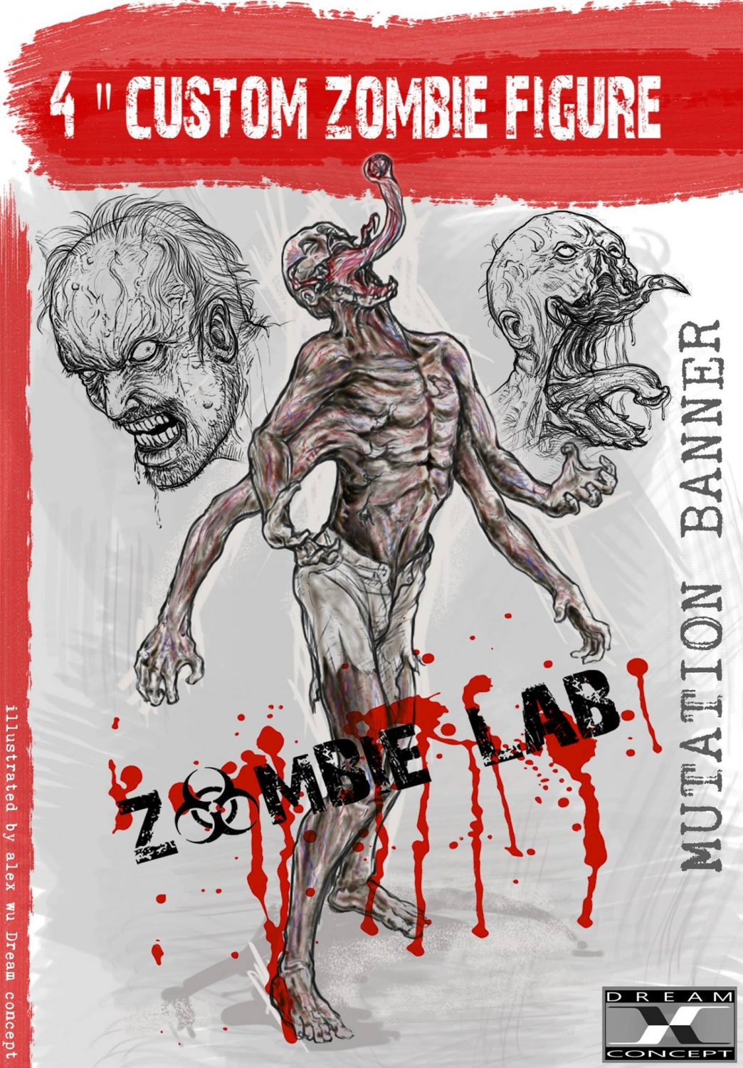 Dream Concept Collectibles Zombie Lab Mutation Banner Character Design Revealed