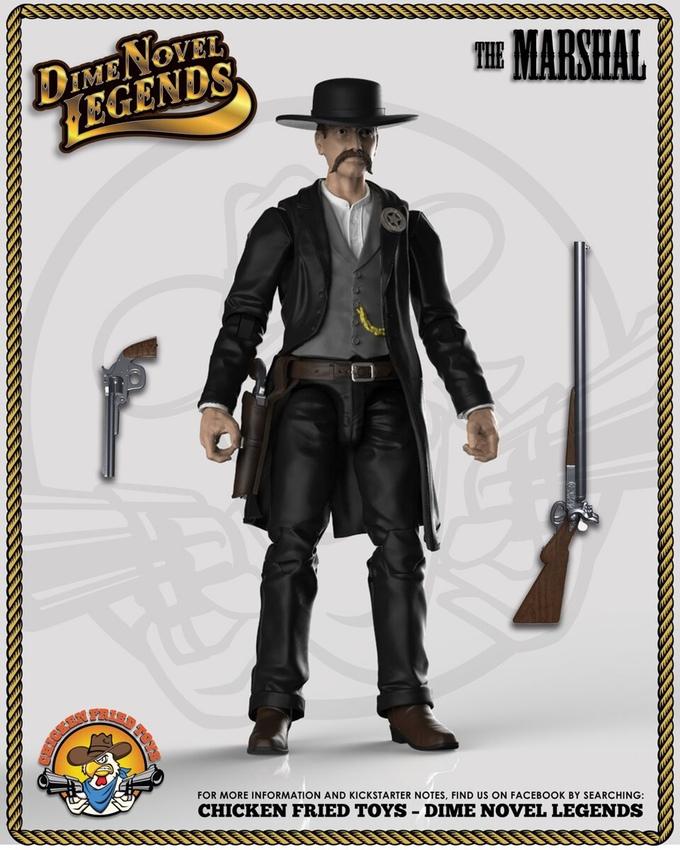 Chicken Fried Toys Dime Novel Legends 1:18th Western Figures On Kickstarter