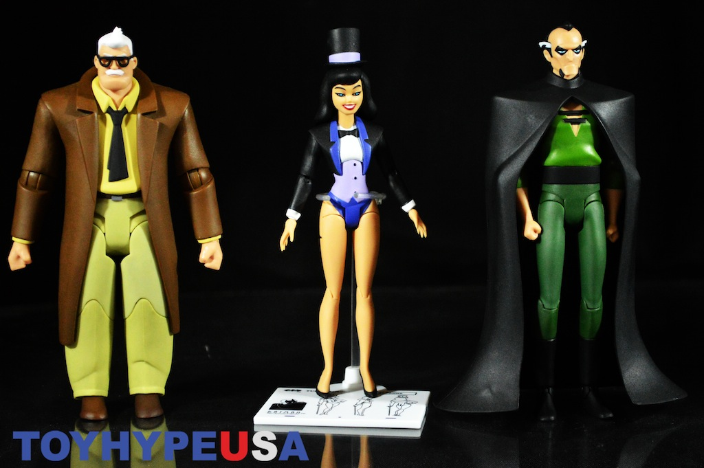 DC Collectibles Batman: The Animated Series Commissioner Gordon, Zatanna & Ra's Al Ghul Figures Review