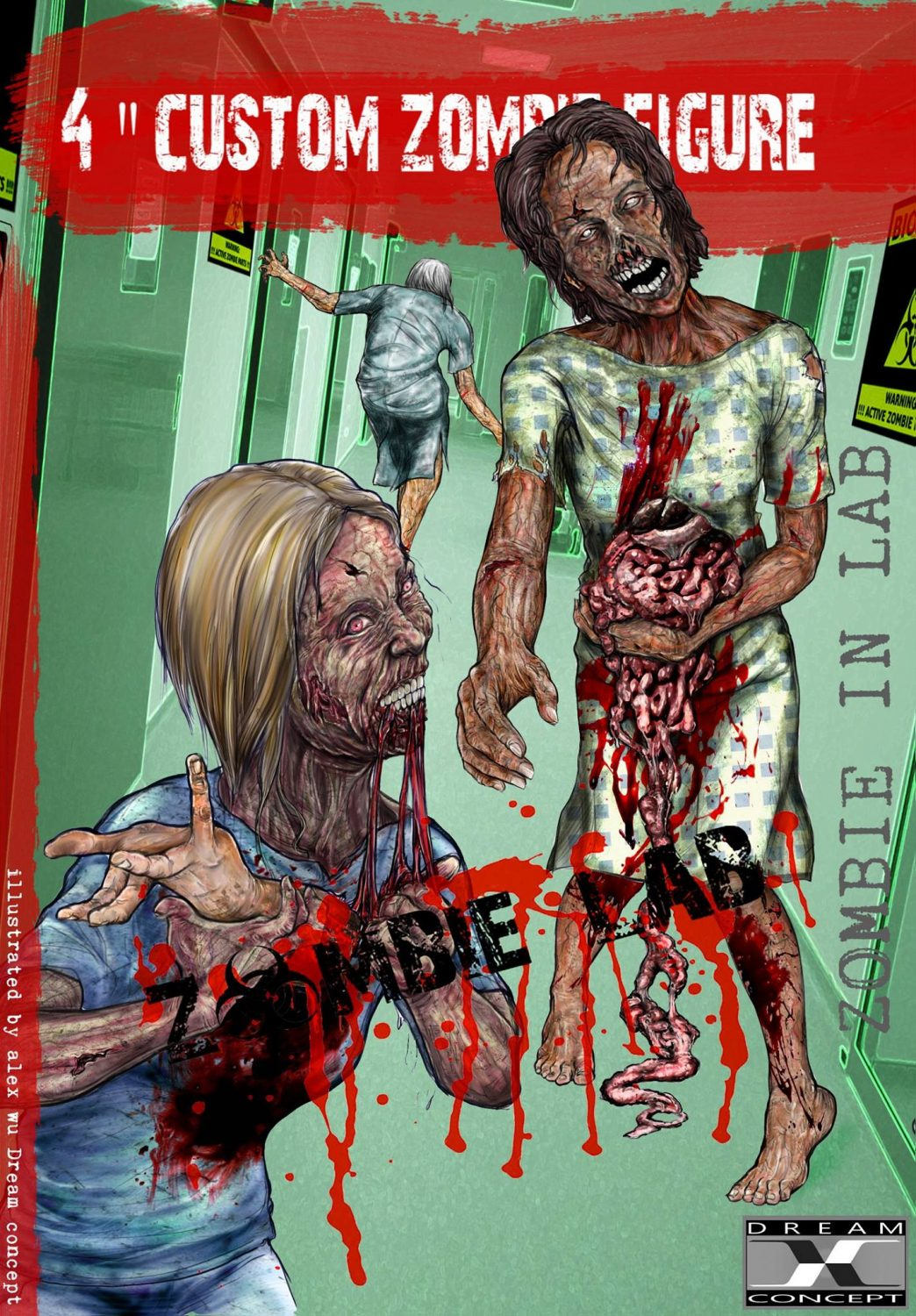 Dream Concept Collectibles Zombie Lab Female Zombies In Lab Character Design Revealed