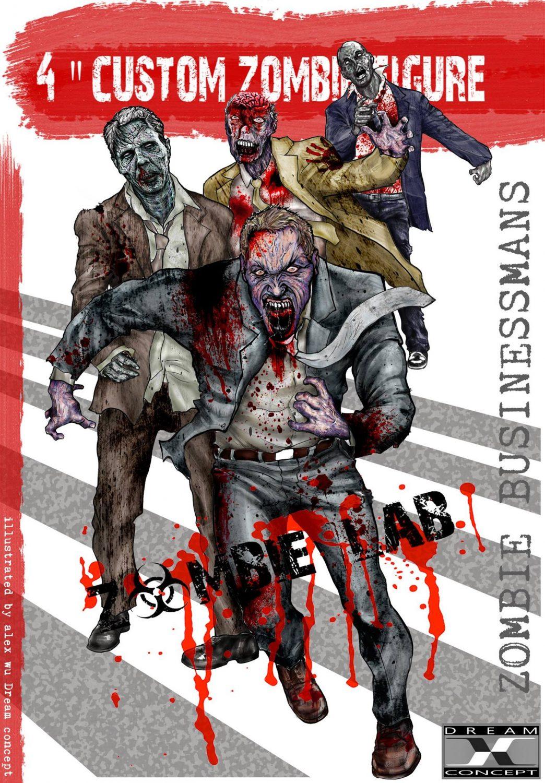 Dream Concept Collectibles Zombie Lab Zombie Businessmans Character Design Revealed