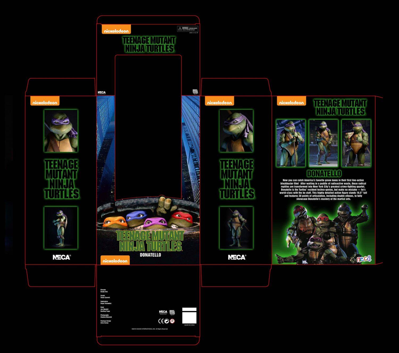 NECA Toys Teenage Mutant Ninja Turtles 1/4″ Scale Donatello Packaging Design