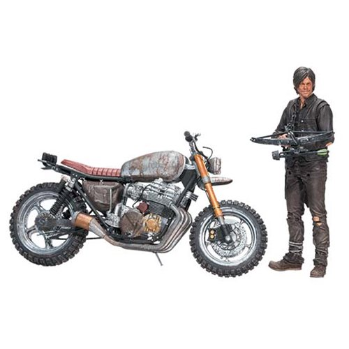 McFarlane Toys The Walking Dead Daryl Dixon & Motorcycle Deluxe Box Set Available Now