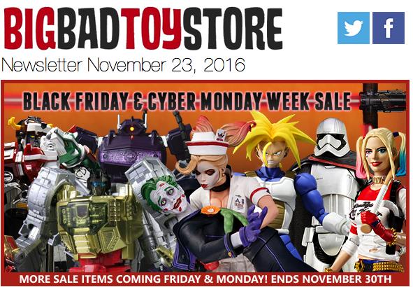 BigBadToyStore: Black Friday, Star Wars Black, Spider-Man Legends, Diamond Select, 3rd Party, Robotech & More